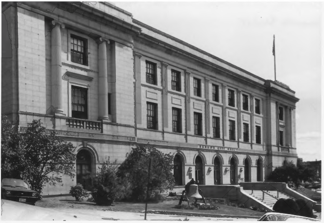 The Old Bangor Post Office and Customs House, which is now City Hall, by Gregory Clancey in October of 1983, Public Domain Photo Provided by NPS