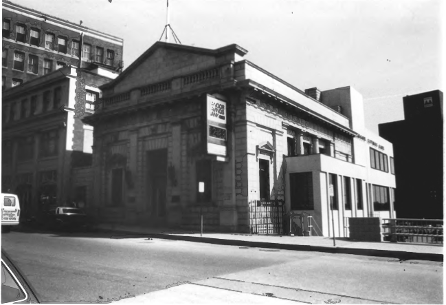 Bangor Savings Bank by Gregory Clancey in October of 1983, Public Domain Photo Provided by NPS