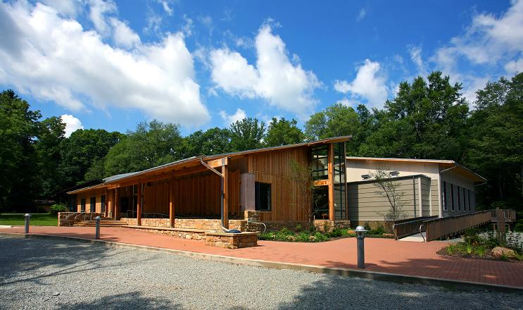 Powdermill Nature Reserve's nature center is home to exhibits on Pennsylvania wildlife, bird research, freshwater streams, and water recycling, as well as classrooms and labs.