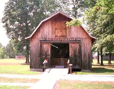 This barn holds General, the third largest horse who has been preserved thanks to taxidermy.