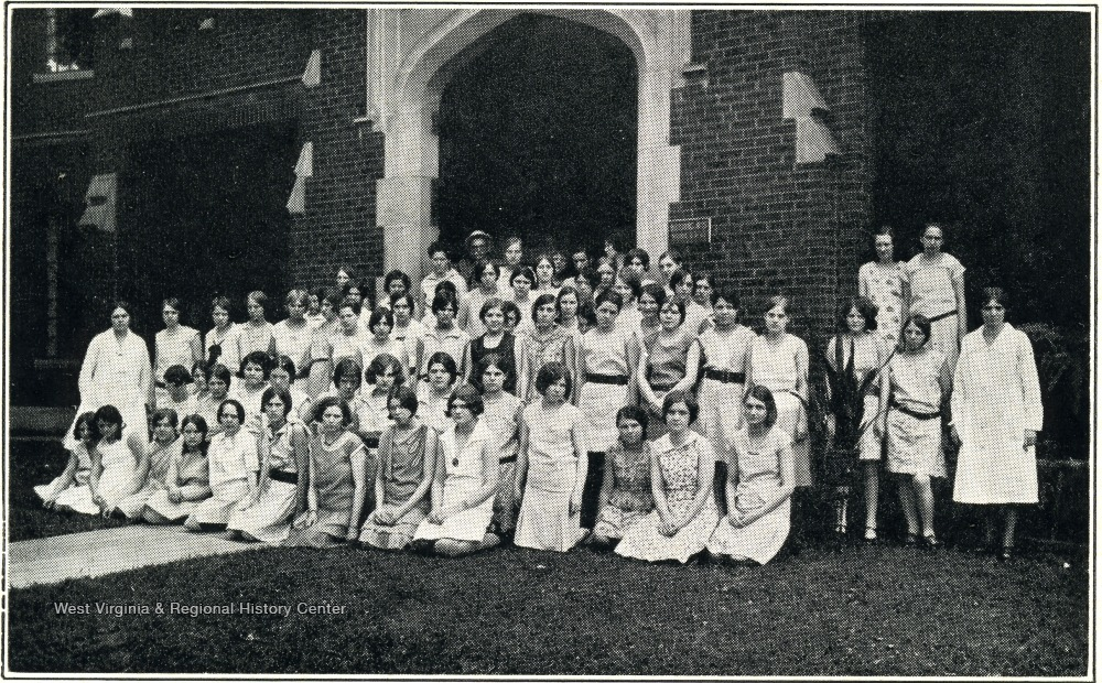 Girls' ward residents, 1930