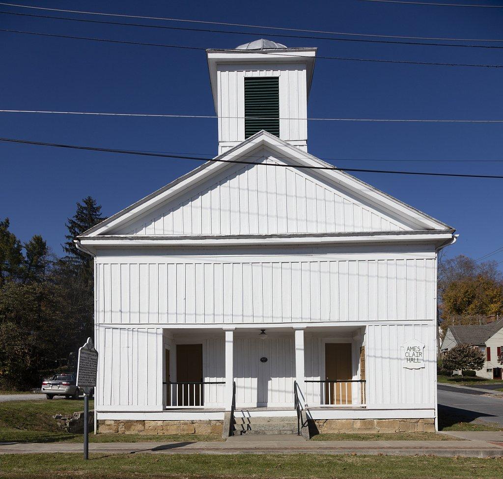 Ames Methodist Church (Ames Clair Hall),  Union WV home church of Bishop Matthew W. Clair, Sr.