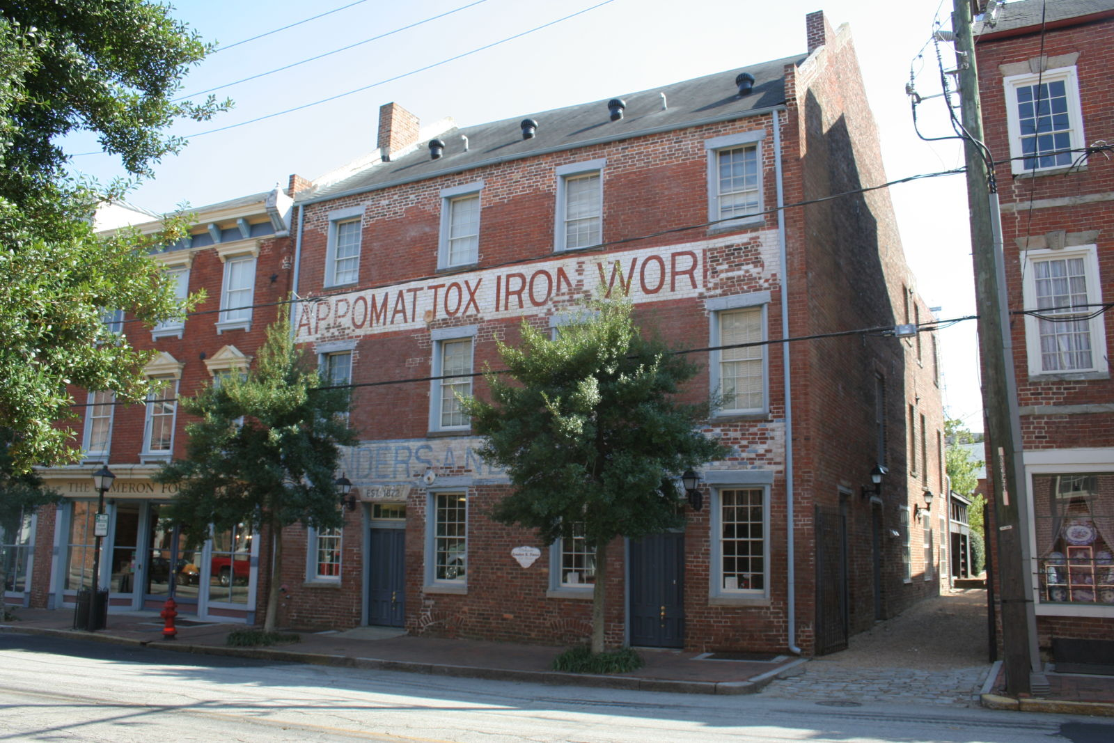 Built in 1815, the machine shop building at Appomattox Iron Works is the oldest in the complex and is an early example of Federal architecture in Petersburg. Photo by John Reidy.