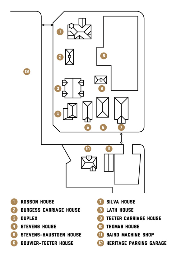 Map of Heritage Square.