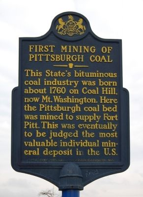 First Mining of Pittsburgh Coal Historical Marker