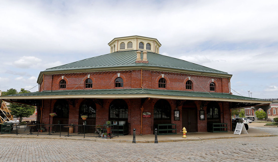 The octagonal design makes the City Market building one of the most unique in the city of Petersburg. Photo by Richmond Times Dispatch.