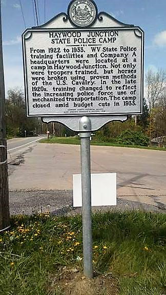 Historical marker for the Haywood Junction Police Training site was placed in 2017.