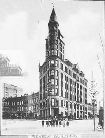 1890 image. Source: http://vintagespokane.blogspot.com/2015/03/spokesman-review-building.html