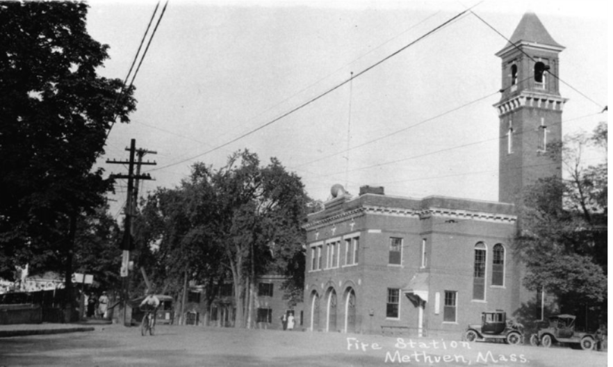 The fire house on Lowell street