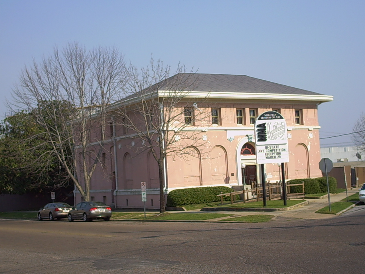 The Meridian Museum of Art opened in late 1970. The building itself was constructed in 1884 as the First Presbyterian Church, then becoming a library from 1913 to 1967.