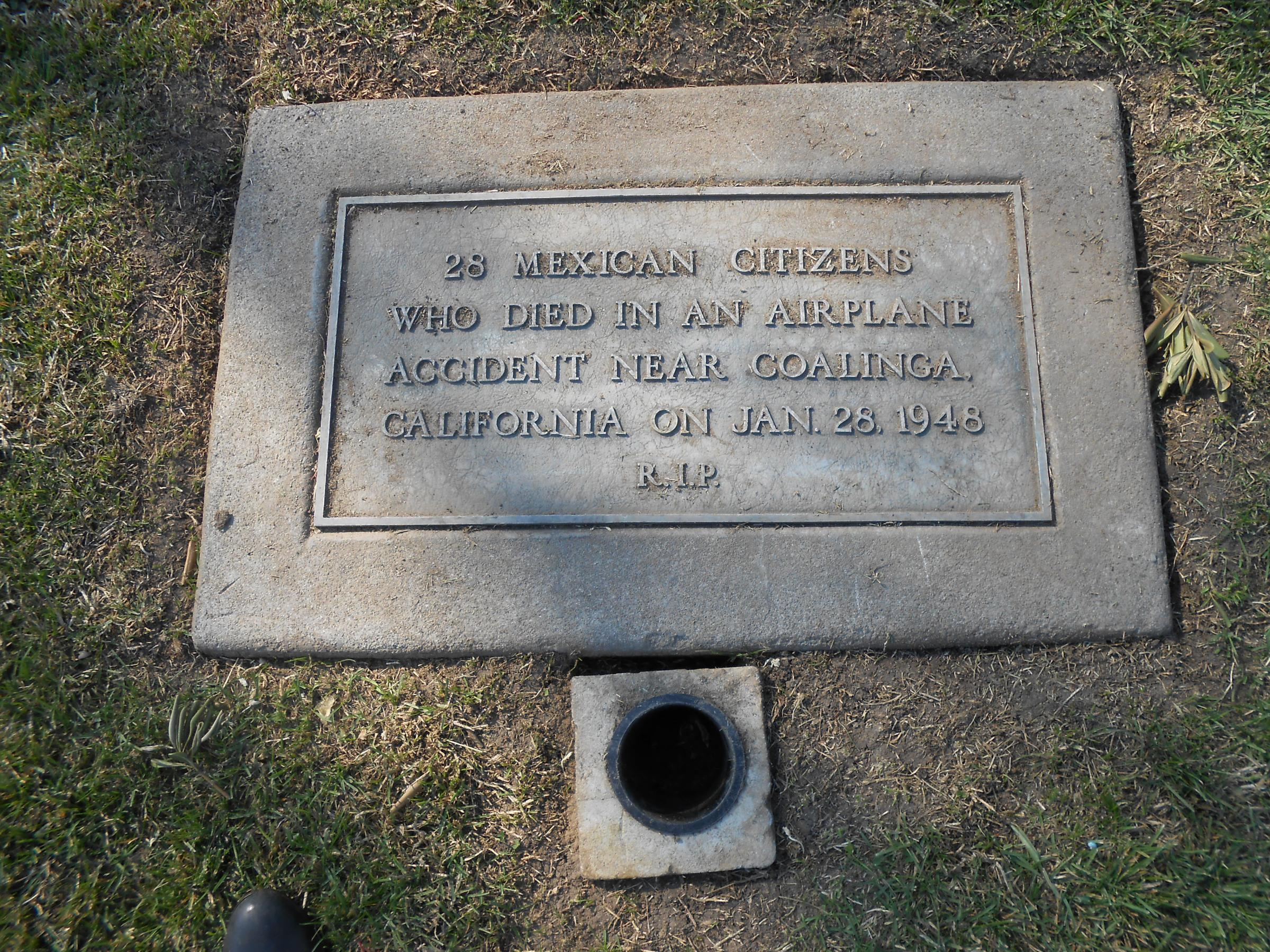 The original grave marker