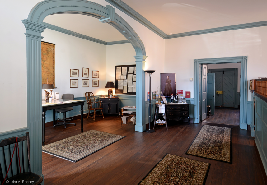 The interior of Historic Farmers Bank, home to a museum and the Petersburg Visitors Center. Photo by Petersburg Museums.