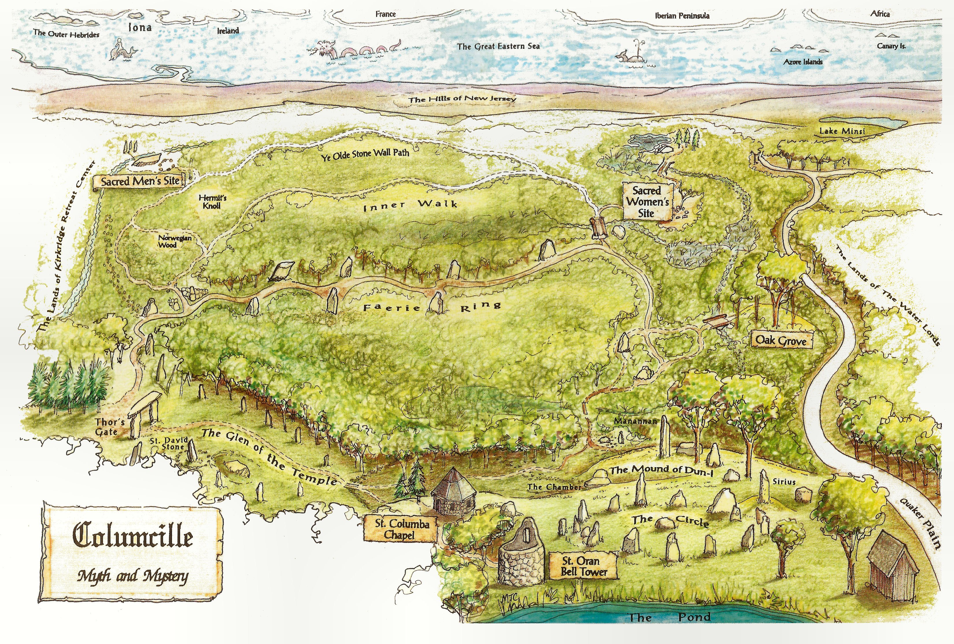 Colored map of Columcille Megalith Park