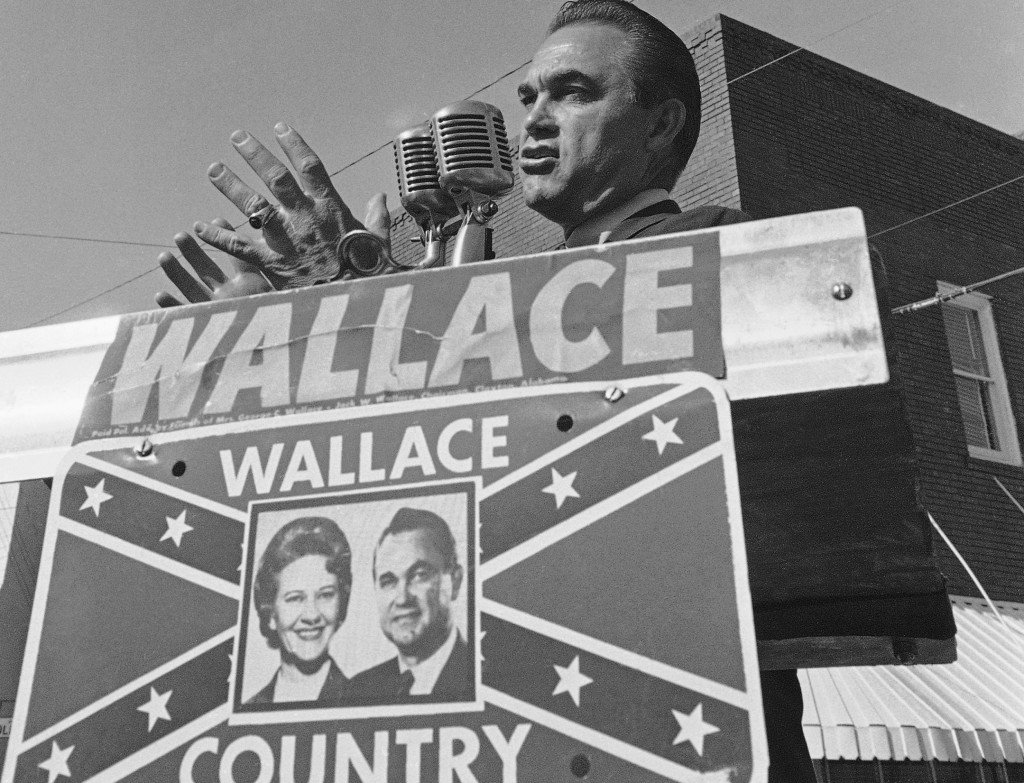 George Wallace and other opponents of integration made the Confederate flag their emblem throughout the civil rights movement of the 1950s and 1960s.