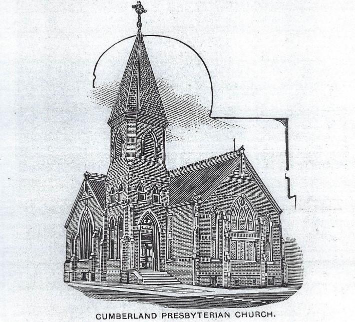 Sketch of Cumberland Presbyterian Church in 1892