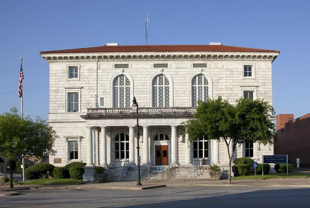 The former Federal Building & Courthouse, originally a U.S. Post Office, was built in 1909. It will become office space in the near future as of 2017.