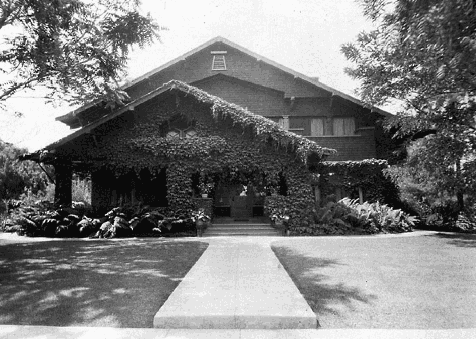 Los Altos History Museum Archives Photo of house Circa 1920, prior to remodel extending house to left of house
