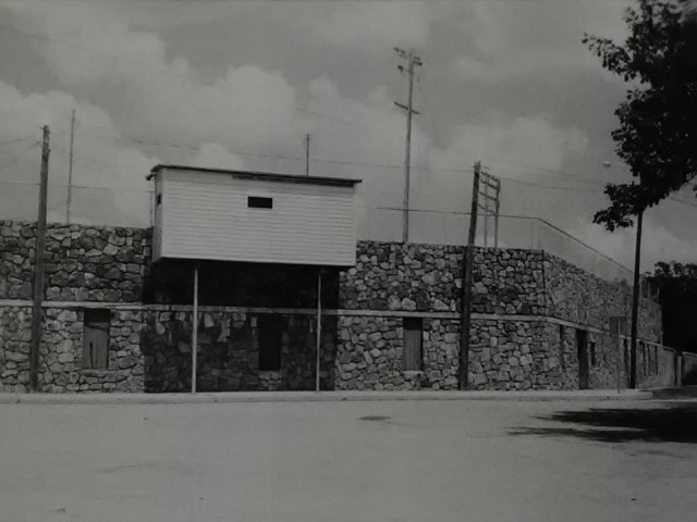 Carl Lewton Baseball Stadium (c 1997 image), originally built as an outdoor amphitheater but very quickly after completion was converted to athletic use. Senator Harry S Truman announced the funding for the project.