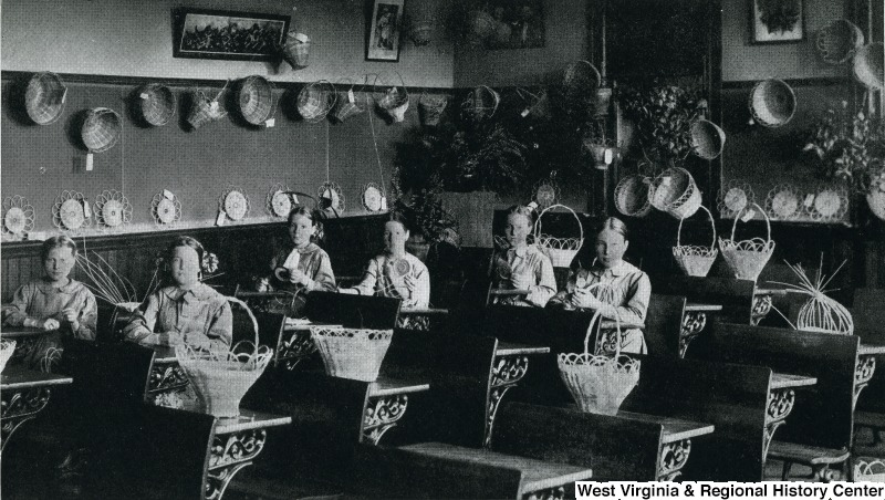 Girls in class at the West Virginia Industrial Home for Girls in September 1912. Courtesy of West Virginia & Regional History Center