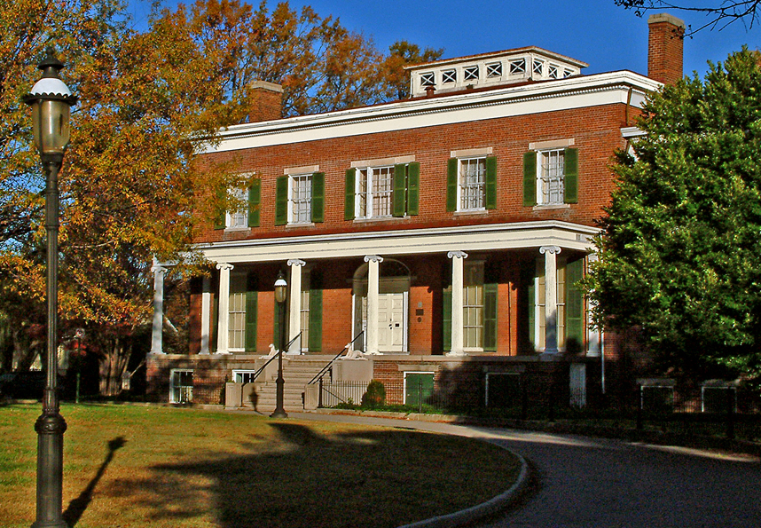 Centre Hill mansion is a beautiful example of Federal and Greek Revival architecture. Photo by Petersburg Museums.