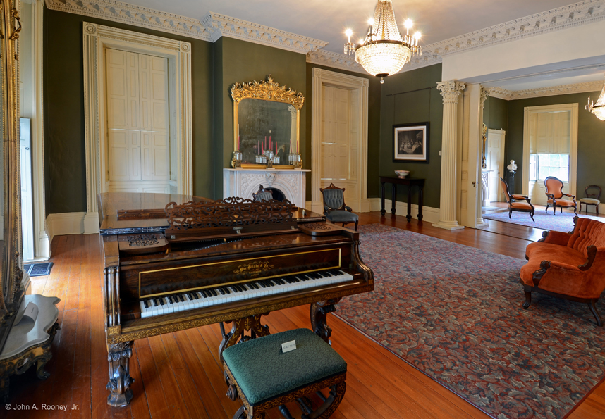 The interior of Centre Hill mansion reflects the wealth and taste of the Bolling family. Photo by Petersburg Museums.