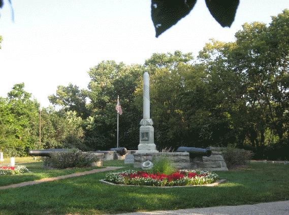 The Kinsman Civil War Monument, present day.