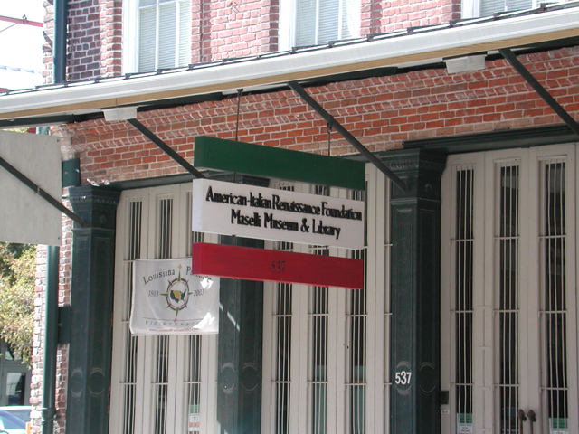 The museum tells the history of American Italians in the Southeast