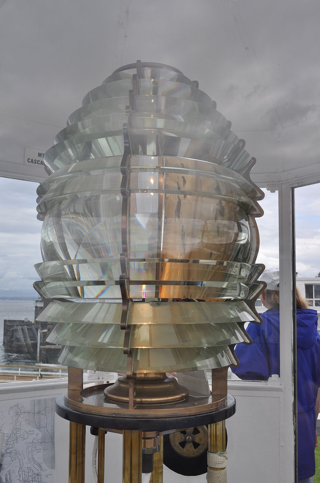The fourth-order Fresnel Lens was manufactured in 1852.