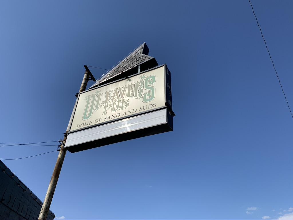 O'Leavers Pub Saddle Creek Sign