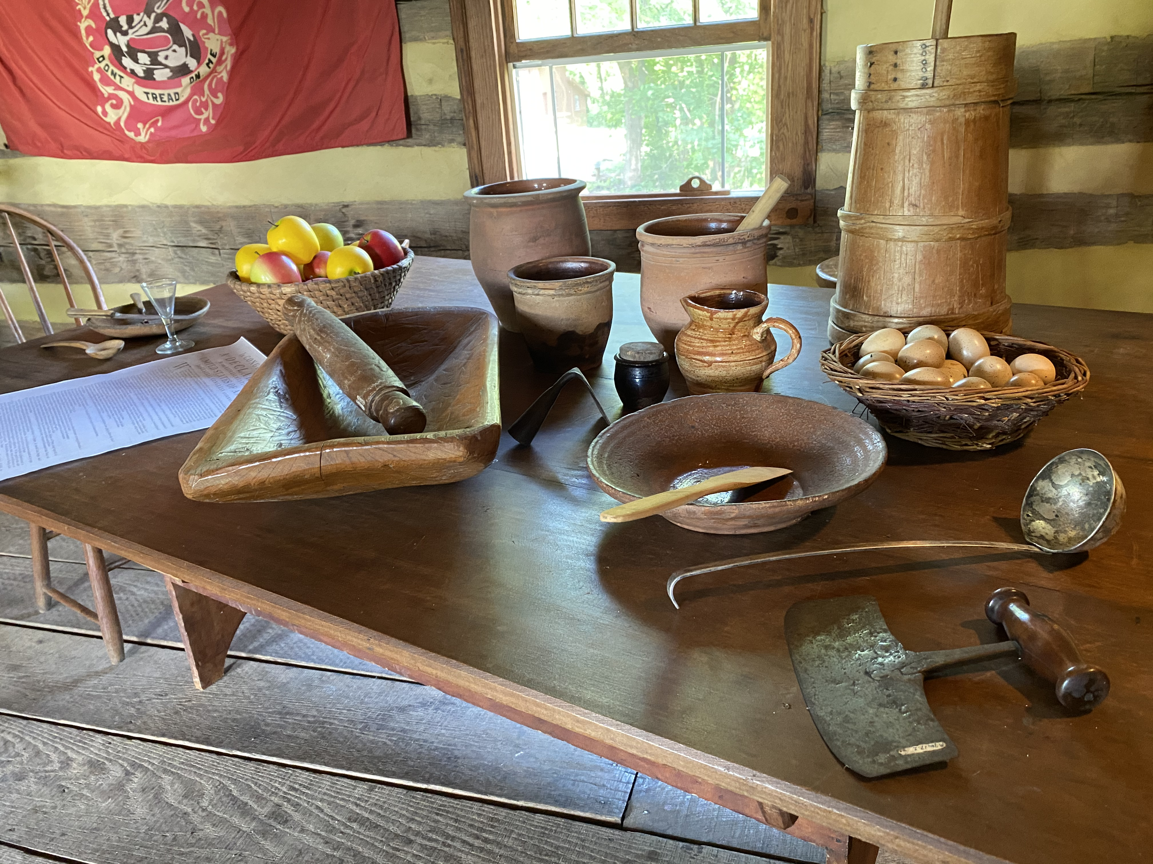 Tavern table setup