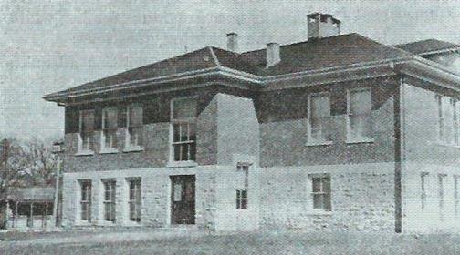 Historic image of the second Lincoln School at 6th and River Streets.