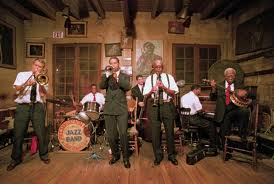 Jazz band performs at Preservation Hall