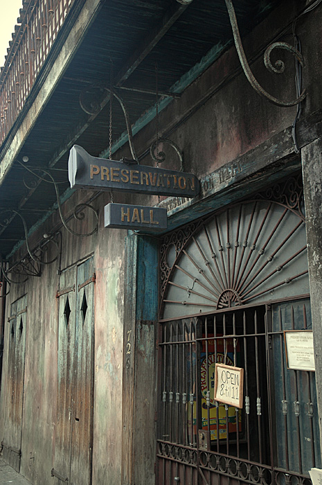 Front entrance to Preservation Hall. Looks can be deceiving.