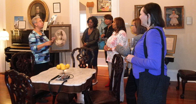 Visitors enjoy a guided tour from one of Le Musee's knowledgeable docents.  Tours are offered Wed-Sun by appointment.