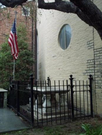 Tomb of the Unknown Solider Revolutionary War. Old Presbyterian Meeting House.
