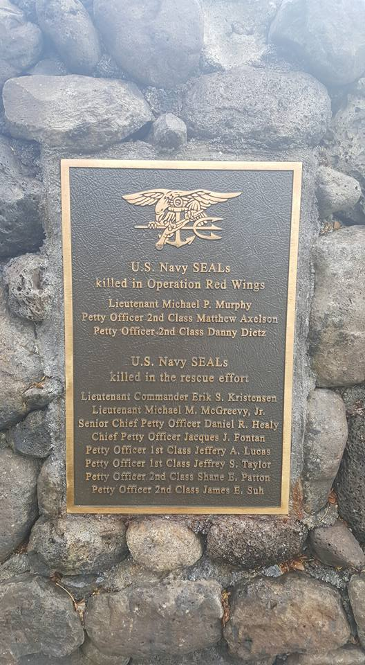 Names of Navy SEALs killed during the operation and rescue effort.