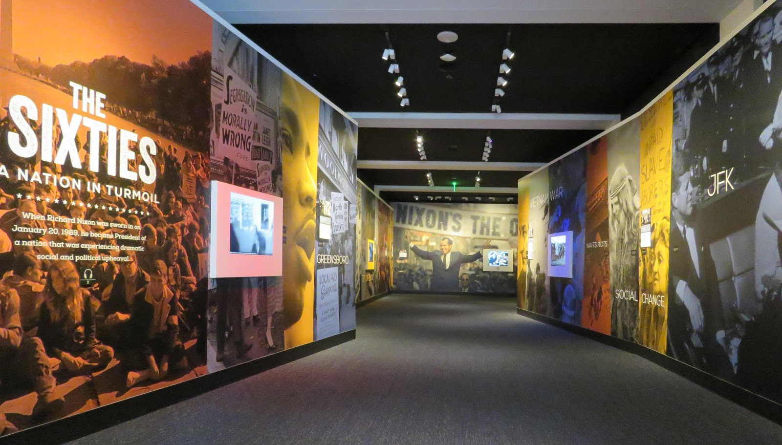 Exhibits in the Nixon Library and Museum