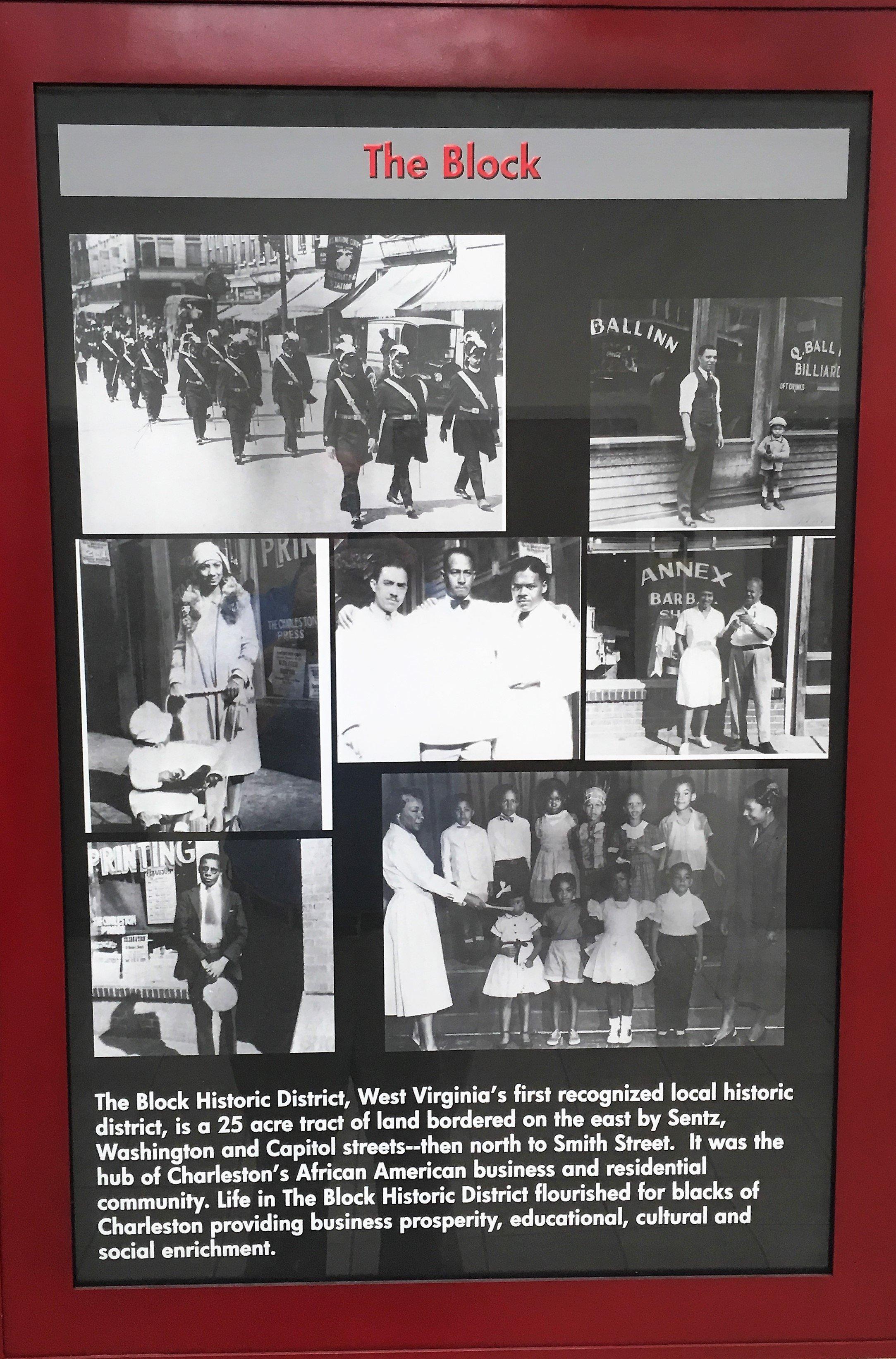 """The Block"" display, Appalachian Power Park Building; 601 Morris Street, Charleston WV."