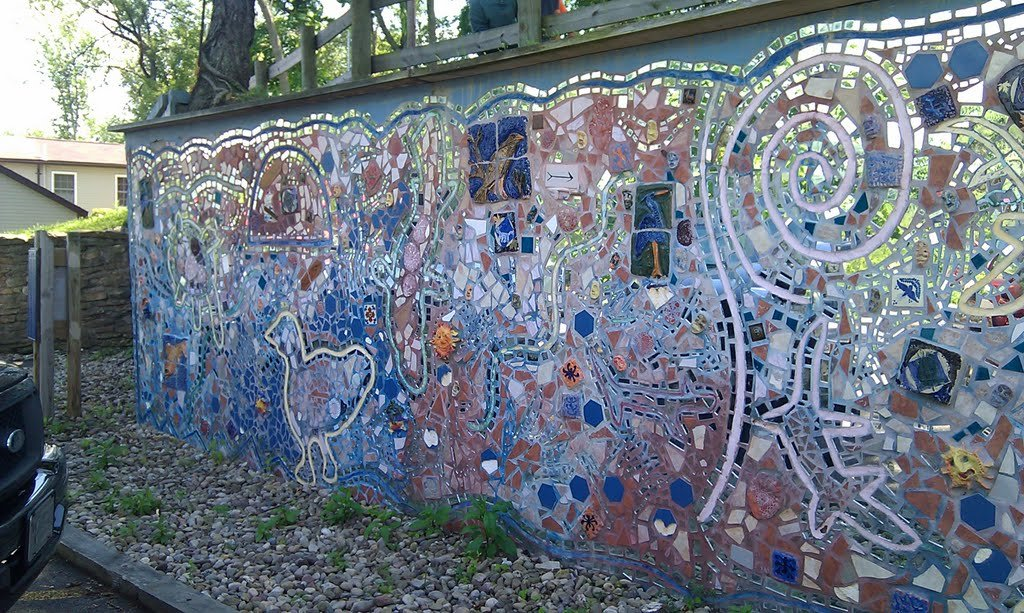 In 2016, the Spirit Wall was hit with major water damage. It was dismantled and restored to its original design before being reinstalled..