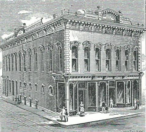 McCrillis Building as seen in 1888 Carthage City Directory.