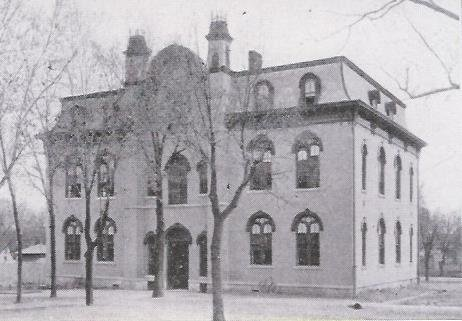 Another view of the first school building/Central School, c.1903.