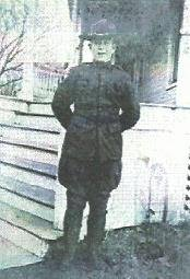 Marlin Perkins seen outside 902 South Main, circa 1917-18.