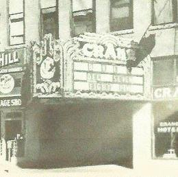 Crane Theatre Marquee in the late 1940s or early 1950s.