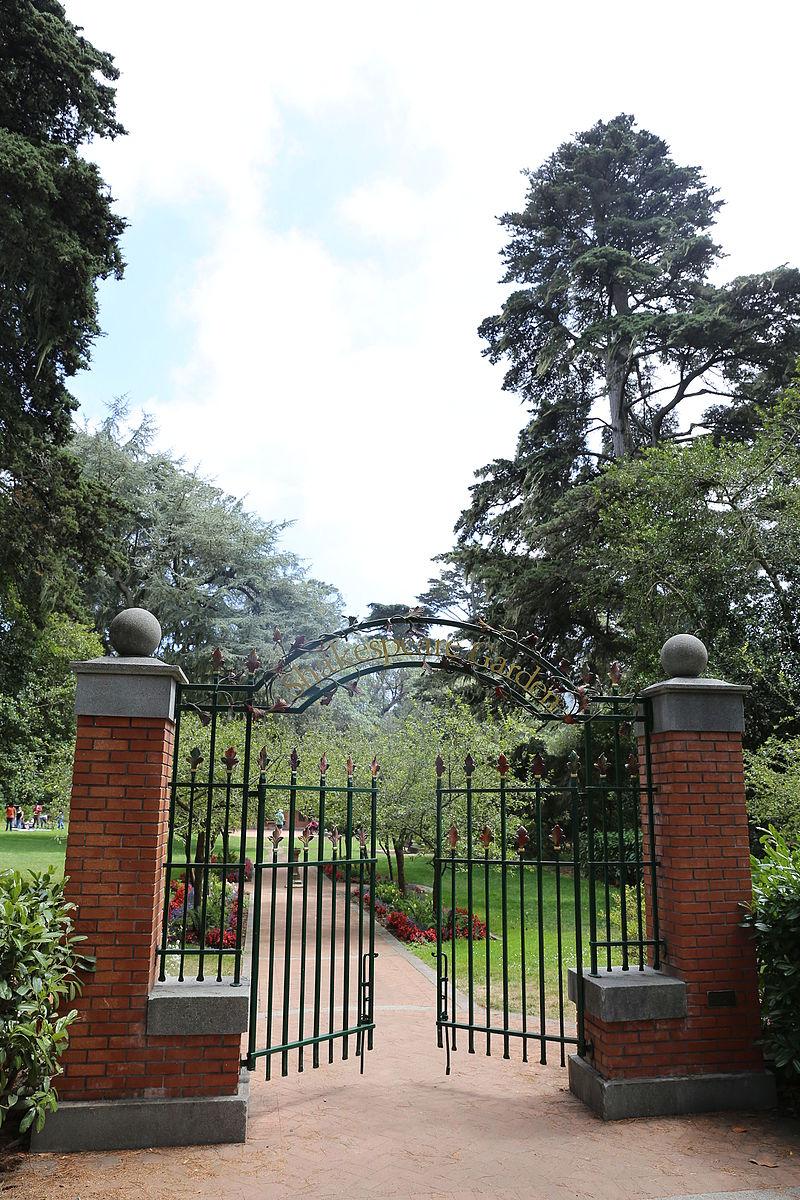Entry gate to the Shakespeare Garden, Golden Gate Park