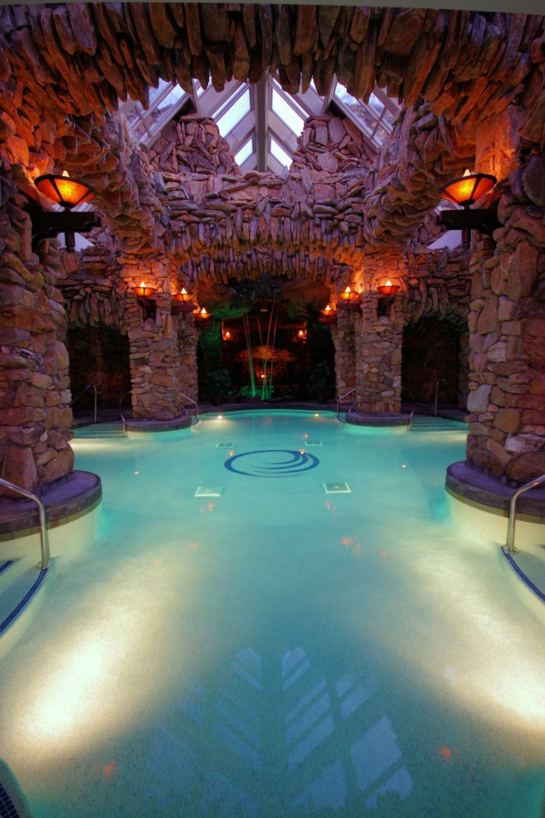 The spa on the hotel's lower level.