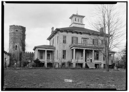 Last photo of the house taken in 1935 as part of the Historic American Buildings Survey.
