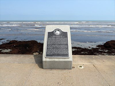 This marker, located at 69th Street and Seawall Boulevard, tells the story of the disaster on the orphanage.