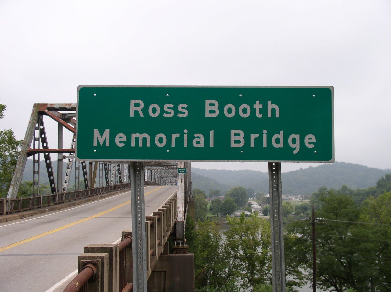 The Winfield Toll Bridge is also known as the Ross Booth Memorial Bridge.