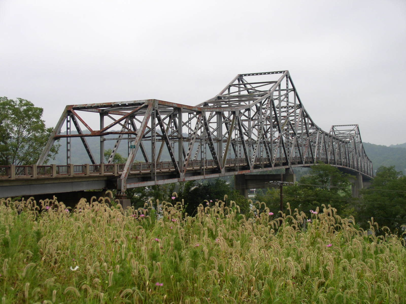 The Winfield Toll Bridge was renovated, in 2010, due the rust forming  on the bridge, and needed repairs.