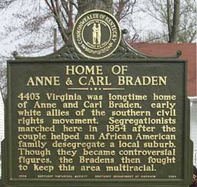 The home of Anne and Carl was a common meeting place for civil rights organizations and leaders.